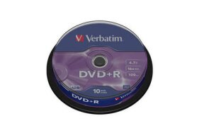 DVD+R VERBATIM CAKEBOX 10PCS